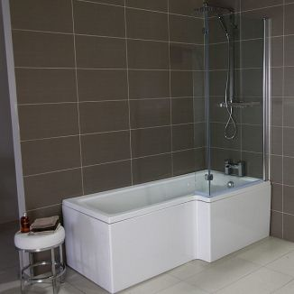 1700mm Verona Right Hand Shower Bath