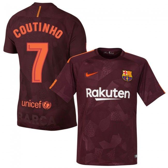 Camiseta del Barcelona 2017-2018 3era + Coutinho 7 (Dorsal Estilo Fan)   dd66496298925