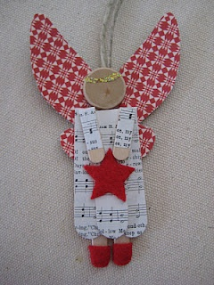 No-budget Christmas Decor: Popsicle Stick Angels. She shows how to make several different kinds - all cute!