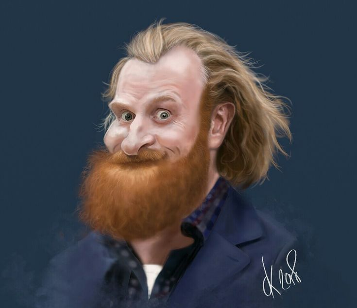 Kristofer Hivju Caricature by Danny Kohn
