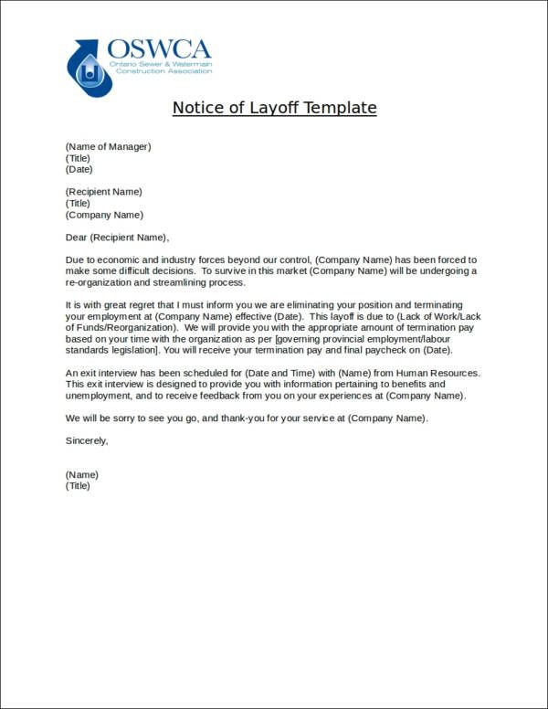 That Layoff Notice Templates Considerably Simplifies The