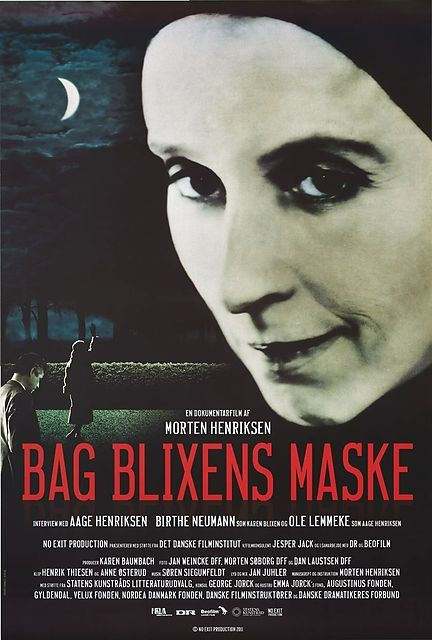 Bag Blixens Maske: Morten Henriksen (DK, 2011) Poster art: unknown. Poster still: unknown. In 1952, the young literature professor Aage Hendrixen met the 66-year-old writer Karen Blixen. At that moment, a complicated friendship began, one that took on bizarre forms over the years and had an enormous impact on Aage's life. http://www.dfi.dk/faktaomfilm/film/da/71136.aspx?id=71136
