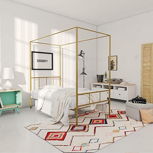 Novogratz 4195219n Marion Canopy Bed Twin Gold Novogratz