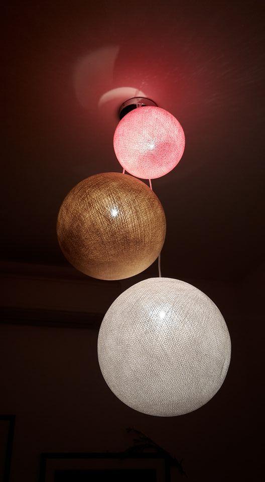 COBOlampadario triplo personalizzato. Puoi scegliere il diametro,il colore che preferisci e realizzare il tuo personale lampadario