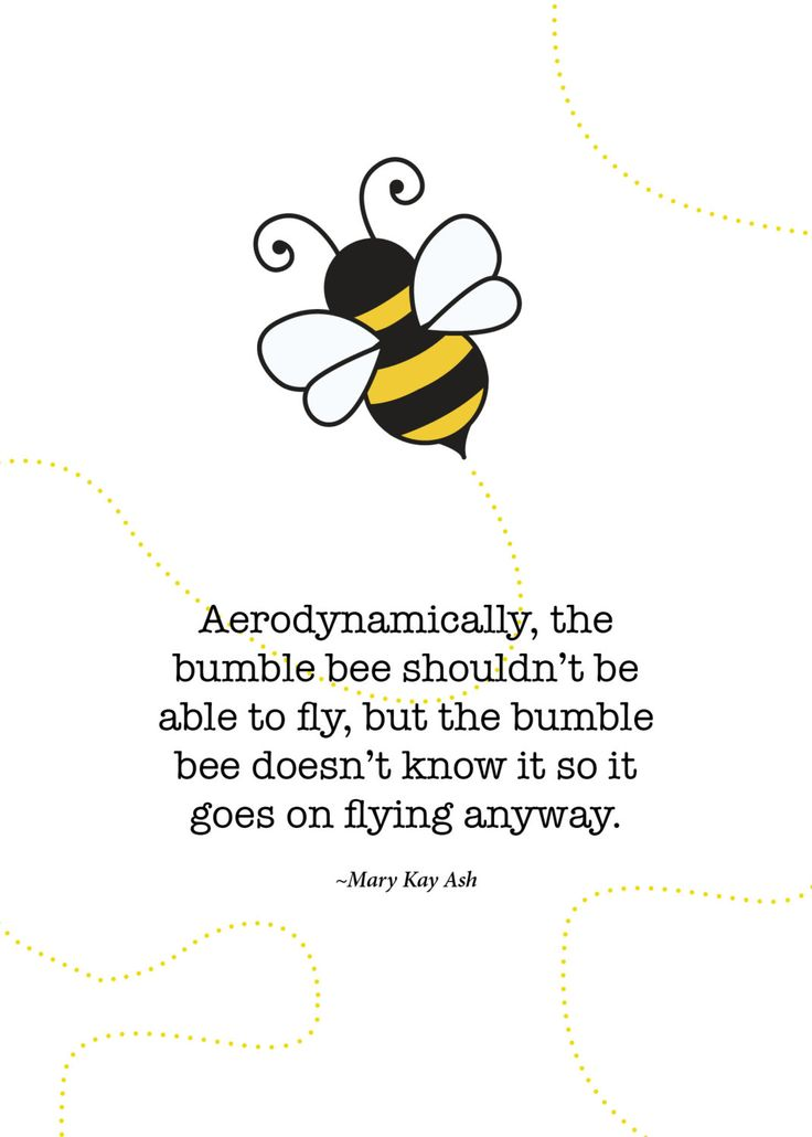 Print of quote by Mary Kay Ash The Bumble by SoftlySpokenDesigns