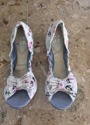 Kaufe meinen Artikel bei #Kleiderkreisel http://www.kleiderkreisel.de/damenschuhe/ballerinas/153107015-peeptoe-ballerinas-im-maritimen-design