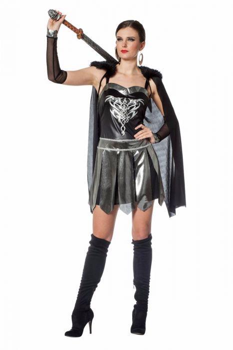 Stoere Dames Carnavalskleding.Romeinse Warrior Dame Bestaande Uit Jurk Cape En Arm Kappen Is Een