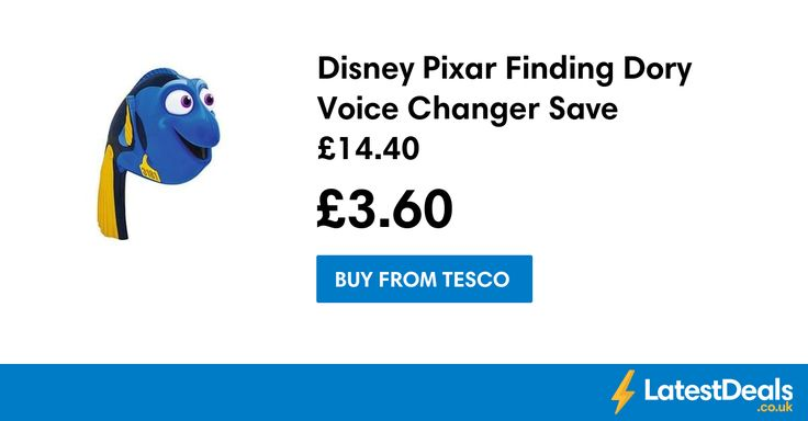 Disney Pixar Finding Dory Voice Changer Save £14.40, £3.60 at Tesco