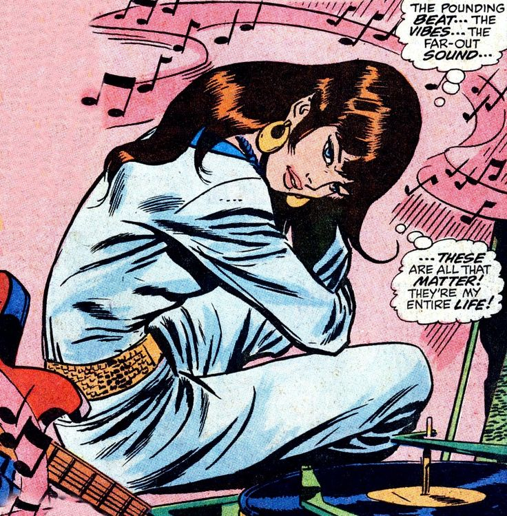 """Comic Girls Say.. """" The pounding beat..the vibes..the far-out sound.."""" #comic #vintage #popart"""