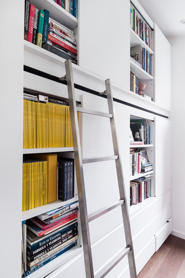 Study with sliding ladder designed by ESK Architects