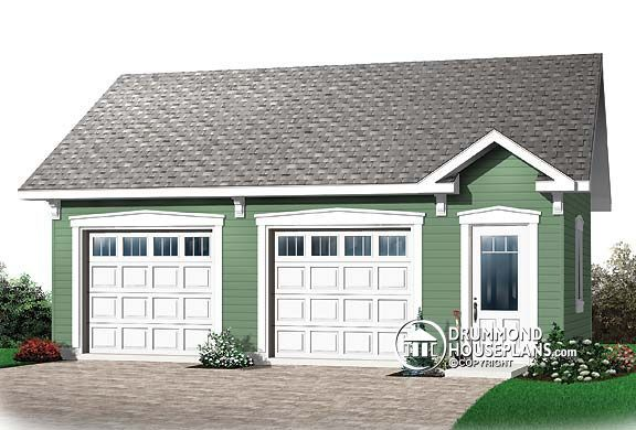 Simple Two Car Garage 92048vs: Garage Plan W2993, Pure Simplicity This 616 Sq. Ft., 2-car