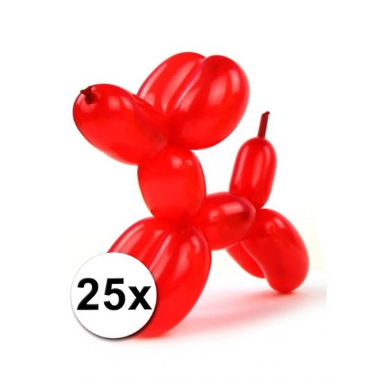 Figuurballonnen gekleurd 25 stuks  Foliezakje met daarin 25 modelleerballonnen in diverse kleuren. Een zakje bevat diverse kleuren ballonnen. De ballonnen kunt u gebruiken om bijvoorbeeld ballondieren mee te maken. De ballonnen zijn volledig opgeblazen ca. 120 cm lang.  EUR 3.95  Meer informatie