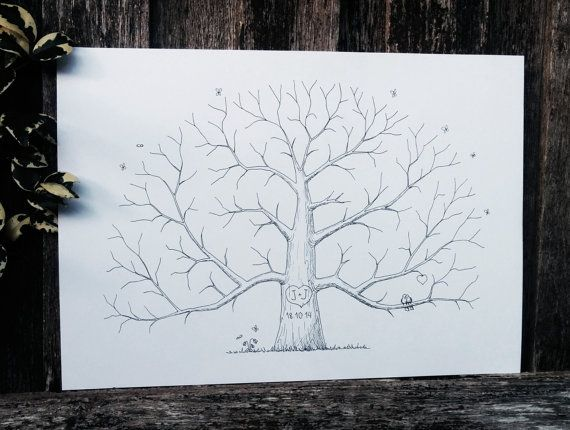 Custom Wedding Fingerprint Tree Alternative by AlgoArtStudio