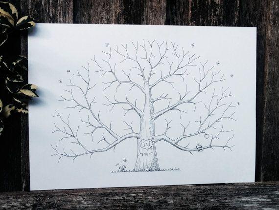 Custom Wedding Fingerprint Tree Alternative by AlgoArtStudio