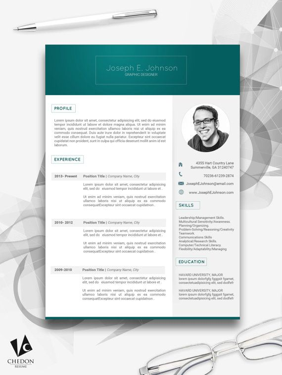 Clean Resume  CV Designs  Professional  Resume Designs  by Chedon