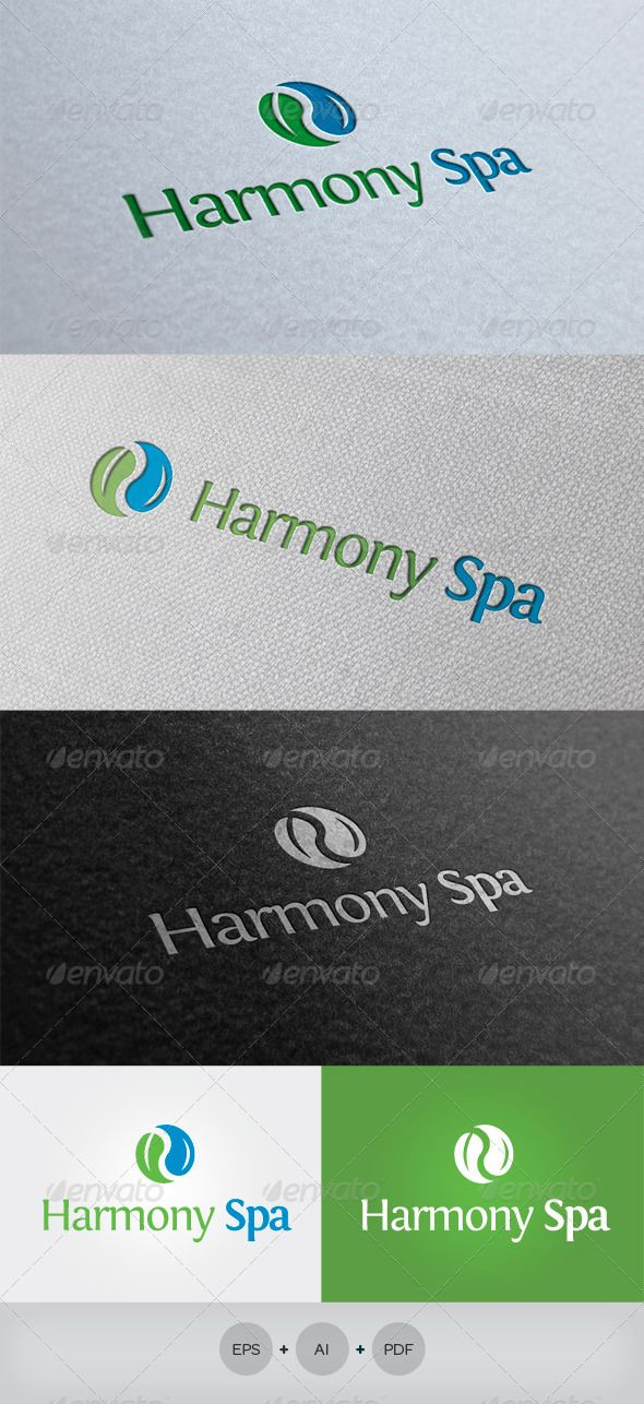 Harmony Spa Logo  #GraphicRiver         Description: An excellent logo template clean and elegant. Can be used with multiple variations. Resizable Vector logo. You can change the text easily