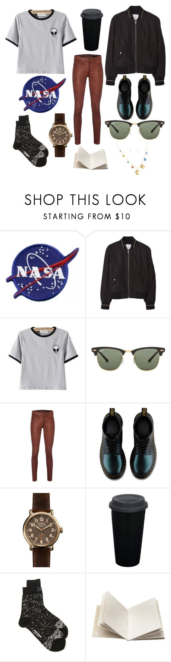 """If I Worked for NASA :)"" by luminous-intensity ❤ liked on Polyvore featuring MANGO, Ray-Ban, rag & bone, Dr. Martens, Shinola, Issey Miyake and Dosa"