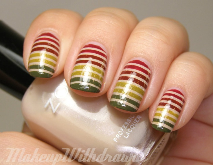 Makeup Withdrawal, Nails Design, China Glaze, Art Designs, Purple Glitter, Stripes Nails, Nails Art Design, Stripes Manicures, Tape Manicures