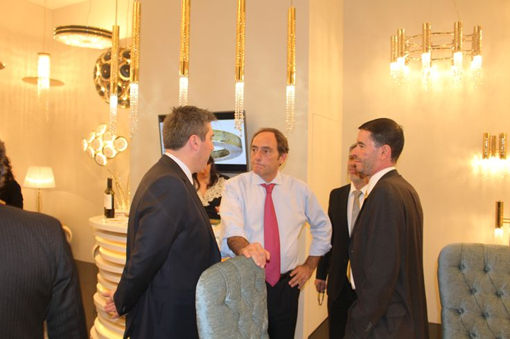 Deputy Prime Minister of Portugal, Dr. Paulo Portas, visited Castro Lighting stand at EUROLUCE 2015.