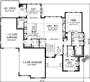 Ranch Style Homes also Sg1280aa Small Country Cottage Houseplan moreover House Plans besides Plan For 30 Feet By 30Feet Plot  Plot Size100Square Yards  Plan Code 1306 as well Narrow Lot. on 1500 square foot home designs