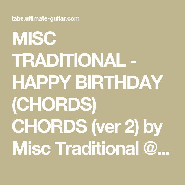 Best Happy Birthday Guitar Chords Ideas On Pinterest