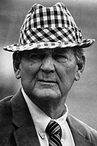 "Paul ""Bear"" Bryant, one of America's best-known sports figures"