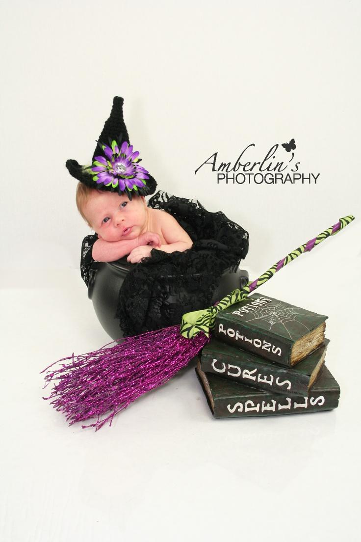 Witchy!  Newborn Photography Halloween