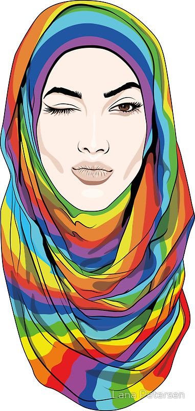 Rainbow Hijab by Lana Petersen