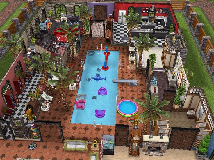 Sims Freeplay Original Designs U2014 Three Story Mansion Featuring An Indoor  Pool