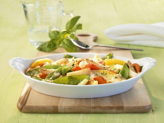Frühlingsgemüse-Auflauf ist ein Rezept mit frischen Zutaten aus der Kategorie Gemüse. Probieren Sie dieses und weitere Rezepte von EAT SMARTER!