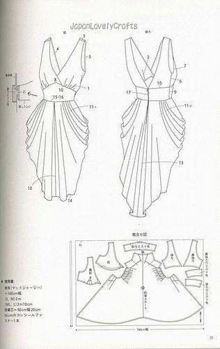 DRAPE DRAPE 1 BY HISAKO SATO - JAPANESE SEWING PATTERNS BOOK - ELEGANT AND GORGEOUS DREPE DRESS PATTERN 21 by JapanLovelyCrafts, via Flickr