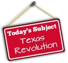 Are you smarter than a Texas 7th Grader?? QUIZ SUBJECT: Texas Revolution