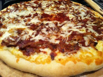 Leftover pulled pork pizza