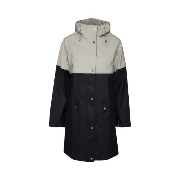 Ilse Jacobsen True Rain raincoat - dark indigo milk crème