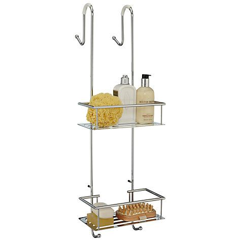 John Lewis #Bathroom #Storage #Contemporary #Shower #Caddy allows you to arrange your bathroom essentials in a neat and easily accessible way. This shower caddy is made of oak wood, which makes it sturdy and durable.