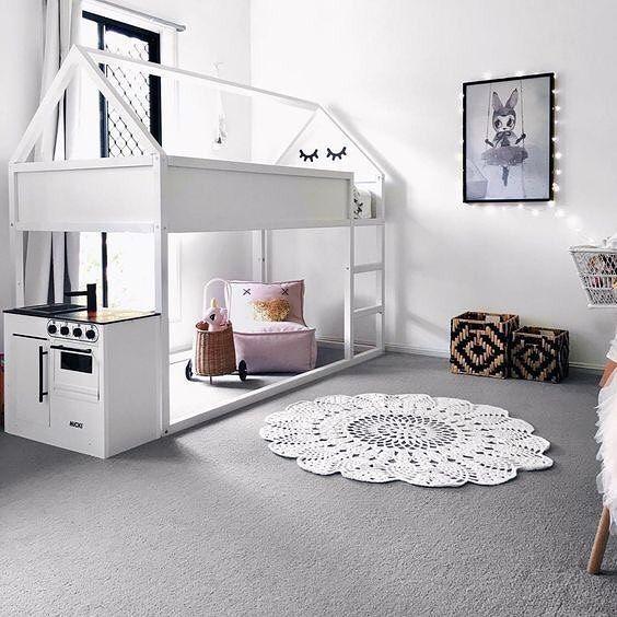 198 отметок «Нравится», 6 комментариев — mommodesign - Play Your Design (@mommodesign) в Instagram: «Ikea room for two girls #Ikea #Kura #ikeahack #kidsroom #girlsroom #barnruminspo Elementy Pracownia…»