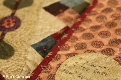 Ellie's Quiltplace: 'n Mini van Restjes: Susan's Scrap Quilt