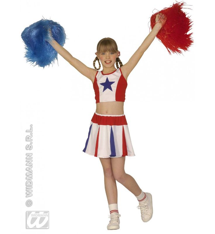 All American Cheerleader Kind Kostuum Meisje
