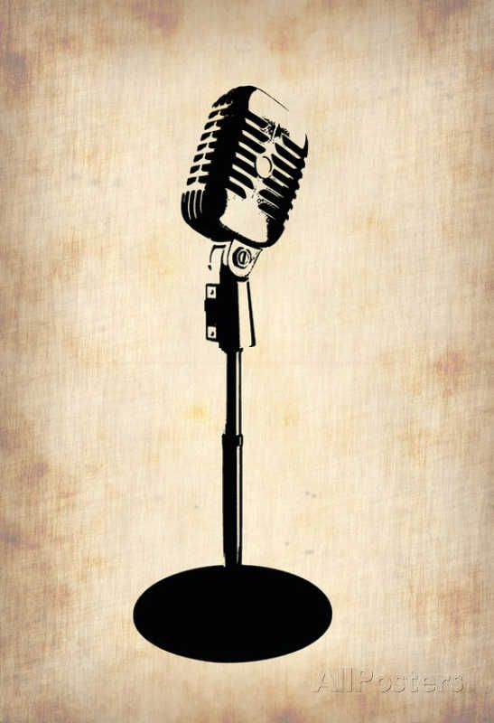 Vintage Microphone Photo at AllPosters.com