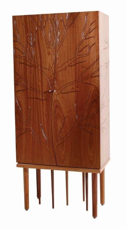 Organic Tree Unit in Natural Mahogany #wood #designer #storage #furniture