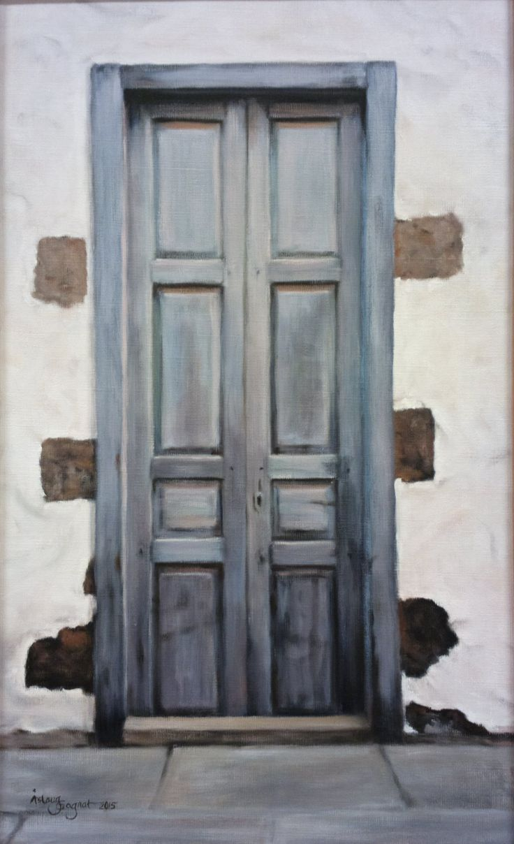 Blue Door,   oil on linen