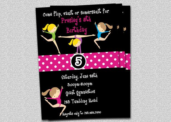58 best Gym party images on Pinterest Gymnastics birthday parties - best of invitation wording for gymnastics party