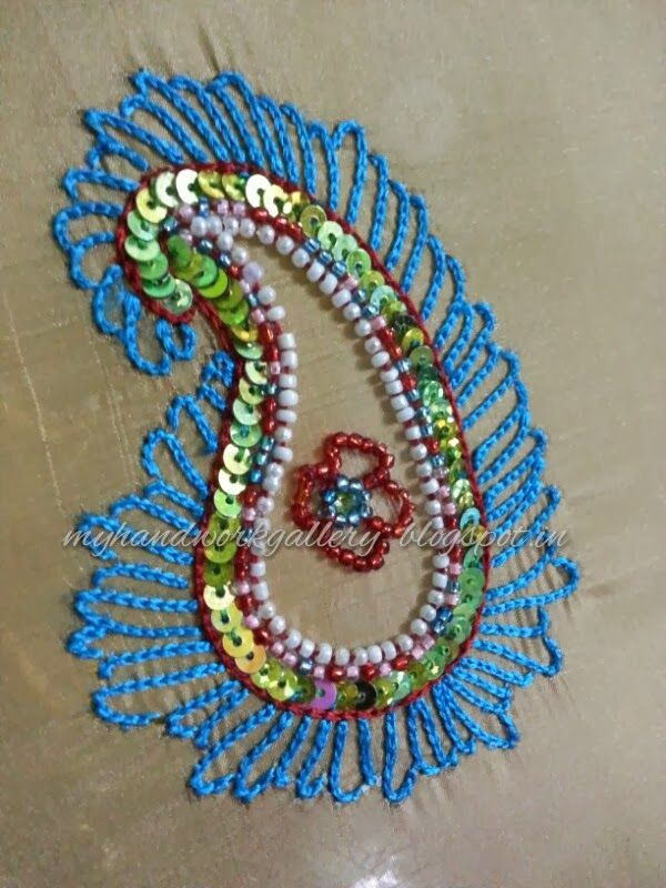Aari work is one of the most beautiful forms indian