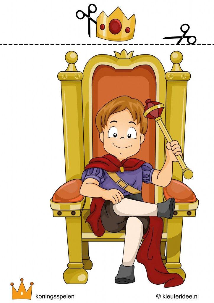 Kroning van de koning, Koningsspelen voor kleuters, kleuteridee.nl , free printable