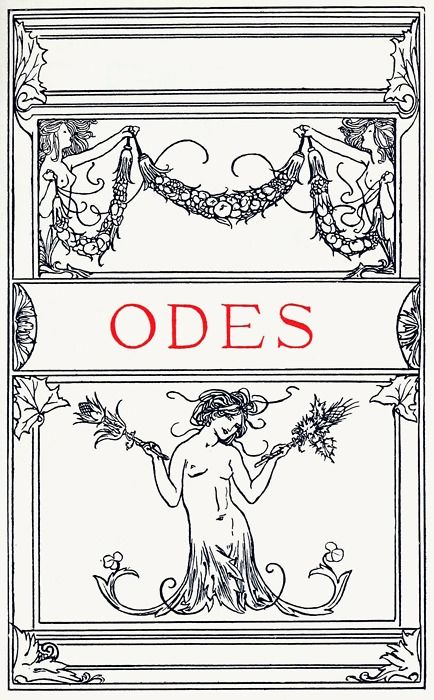 robert anning bell title page to the odes from poems by john keats