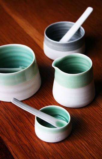 Louisa Taylor   Ceramic Jugs, Pots and Spoons// Jygiau Serameg, Potiau a Llwyau  £15 - £20