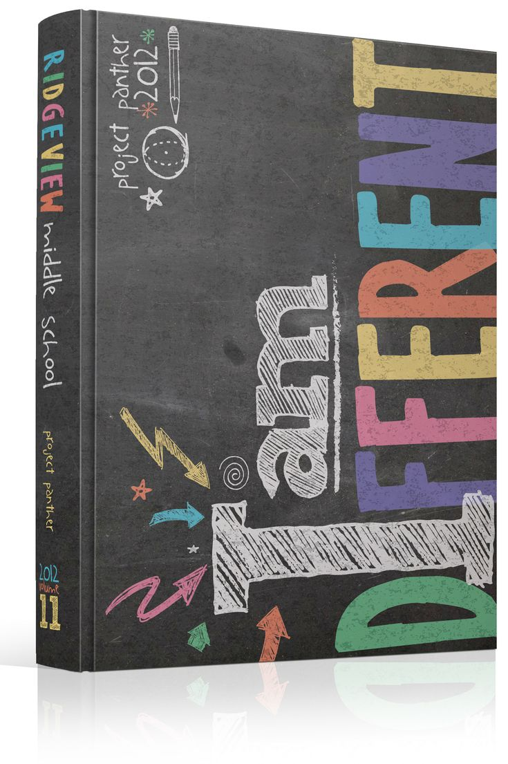 """Best Book Cover Designs Ever ~ Yearbook cover ridgeview middle school """"i am different"""