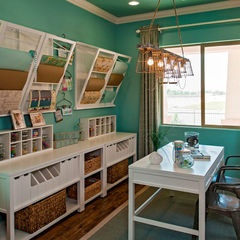 Sewing Room Design Ideas craft and sewing room storage and organization hgtv Craft Room Design Ideas Pictures Remodel And Decor Are Those Drying Racks On The Walls For Wrapping Paper