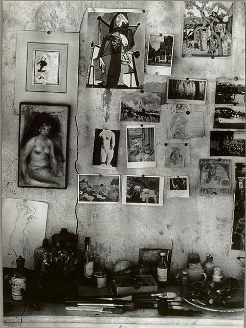 Pierre Bonnard's studio wall