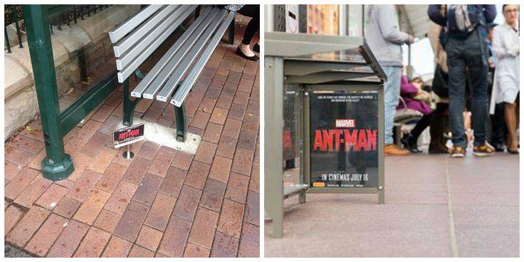 Temmuz ayında vizyona girecek #AntMan (#KarıncaAdam) filmi duyurulduğundan beri reklam kampanyaları da hızla başladı. Ancak #Marvel kampanyalara tam da filmin adına yakışır şekilde, minicik #billboard reklamları hazırlayarak yaptı.